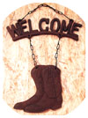 Boots Welcome Hanging